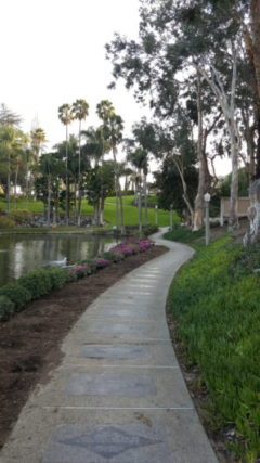 The path around the lake at Rancho Capistrano. Creative Church Arts Conf. 2018.